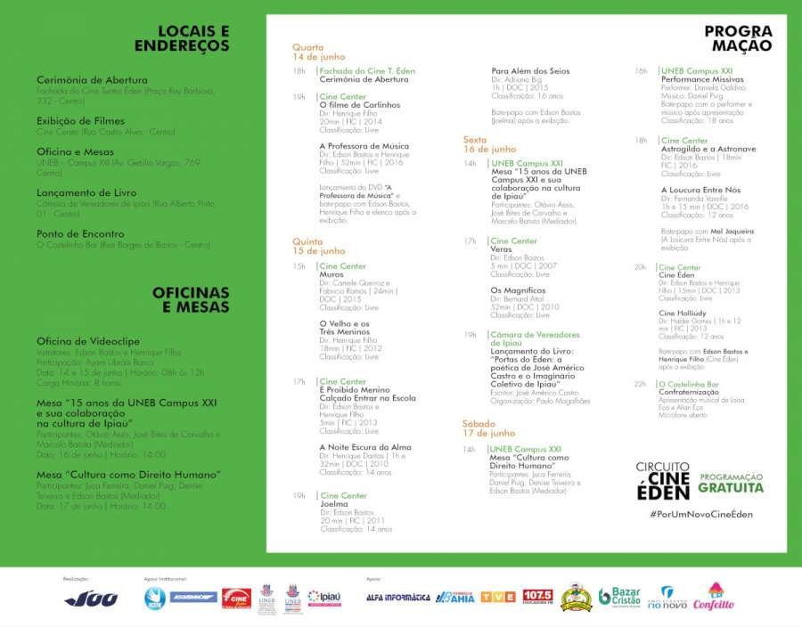 Programação do evento